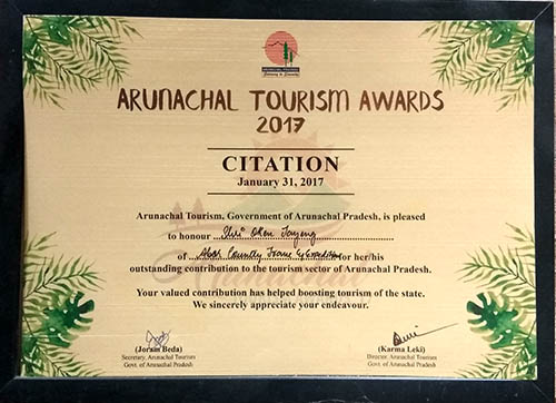 Arunachal Best Tour Operator Award